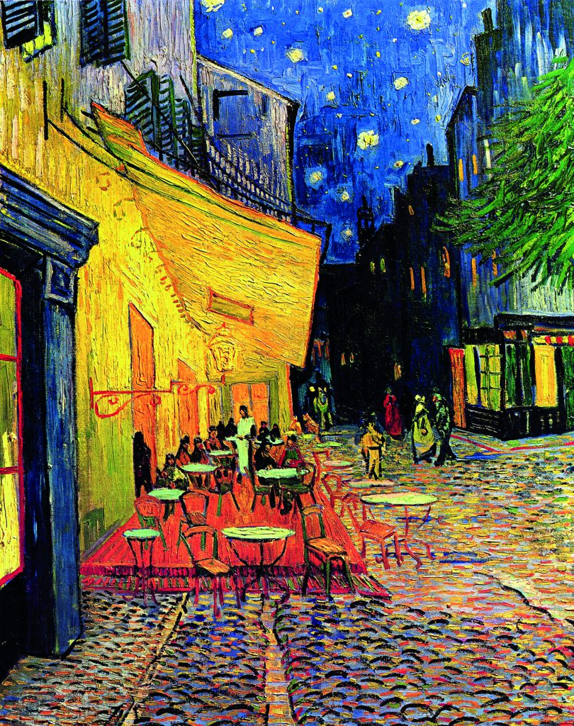 Van Gogh The Cafe Terrace on the Place du Forum Arles at Night 810x1024